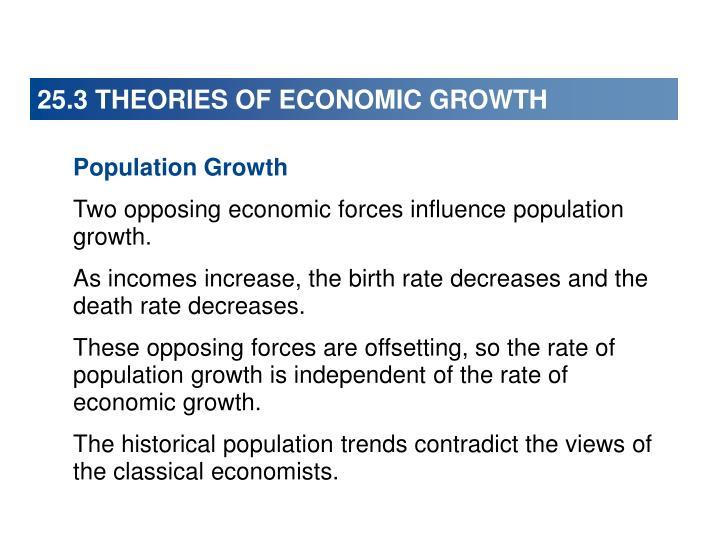 25.3 THEORIES OF ECONOMIC GROWTH