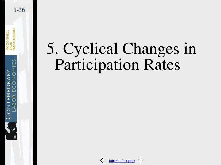 5. Cyclical Changes in Participation Rates