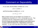 comment on separability1