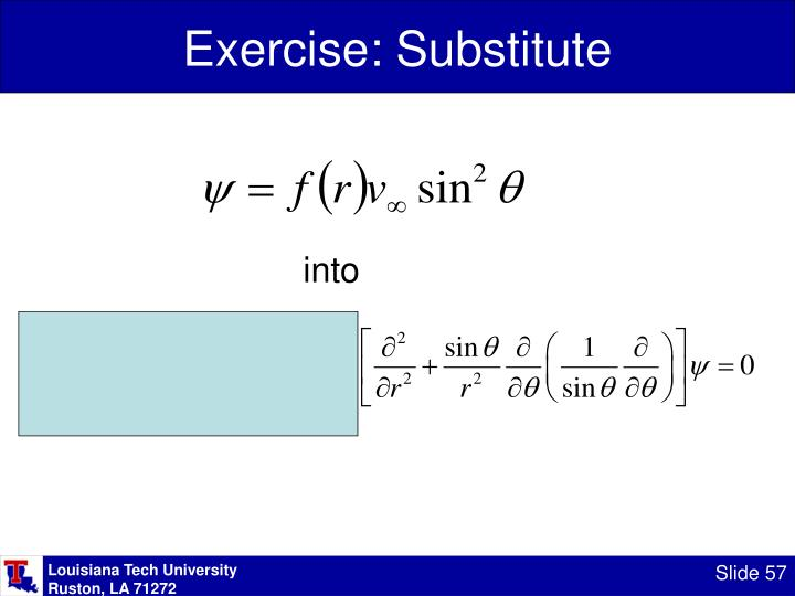 Exercise: Substitute