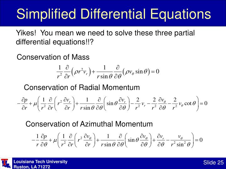 Simplified Differential Equations