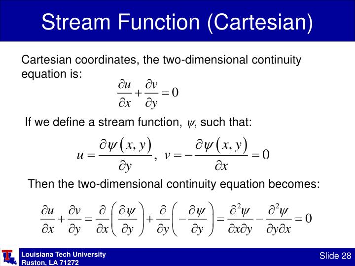 Stream Function (Cartesian)