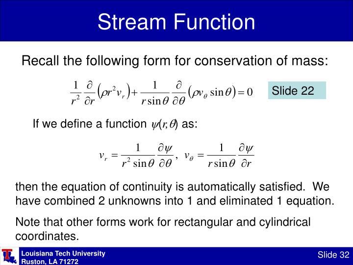 Stream Function