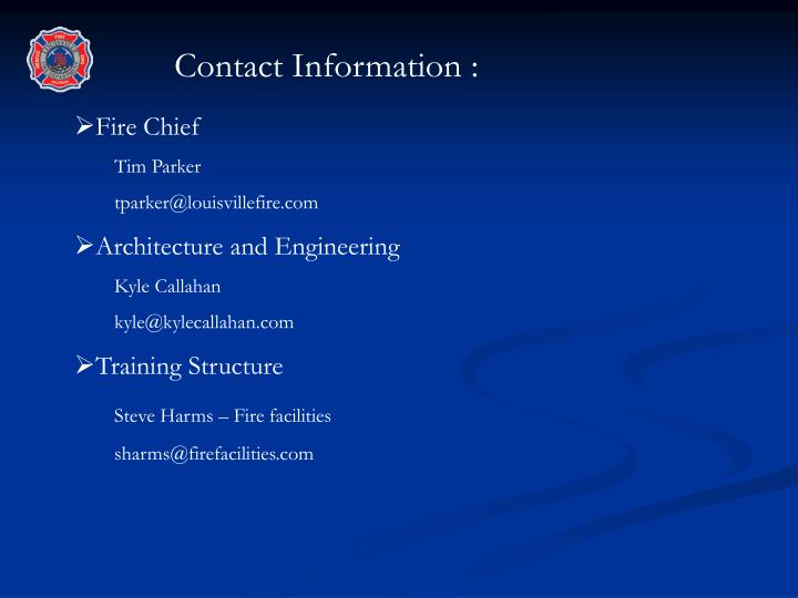 Contact Information :