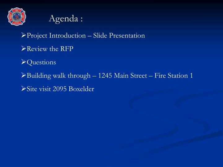 Agenda :