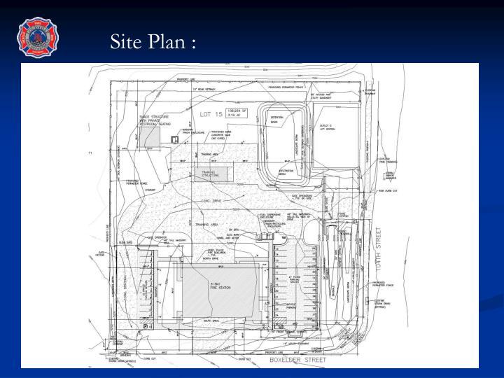 Site Plan :