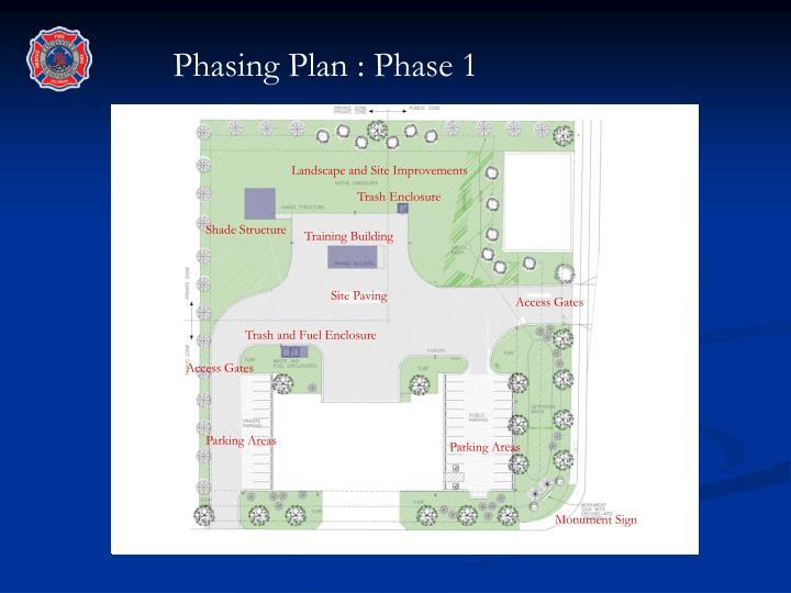 Phasing Plan : Phase 1