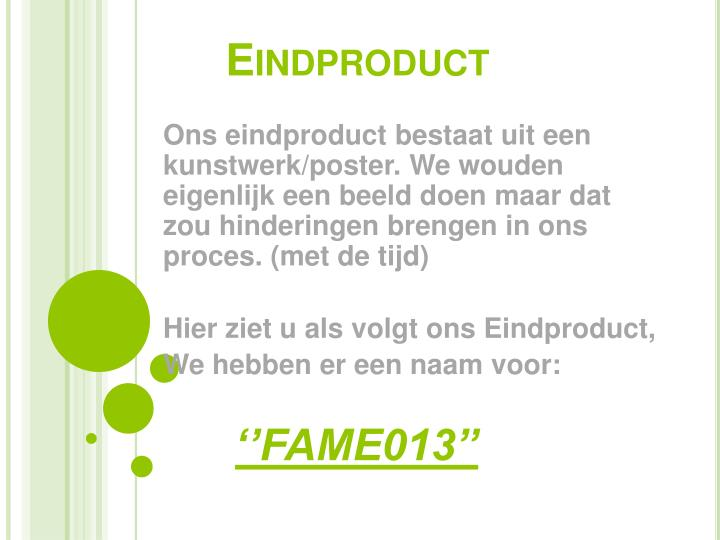 Eindproduct