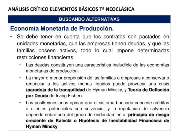 ANÁLISIS CRÍTICO ELEMENTOS BÁSICOS tª NEOCLÁSICA