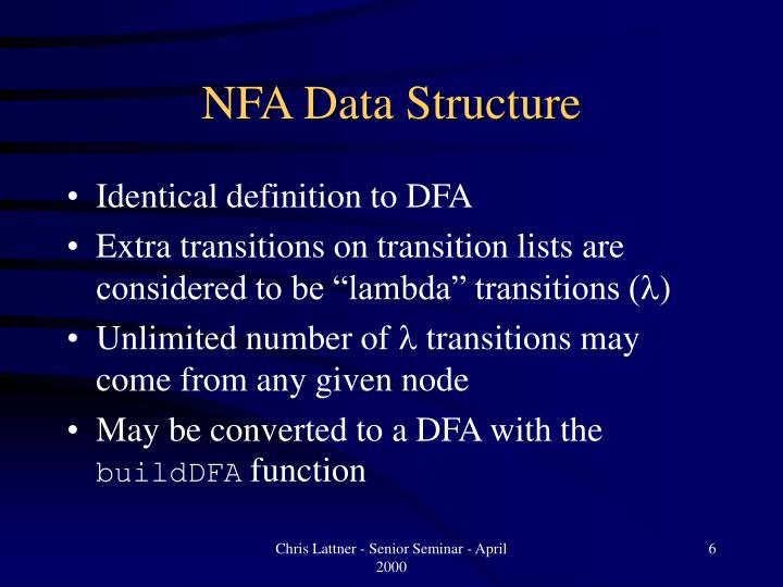 NFA Data Structure