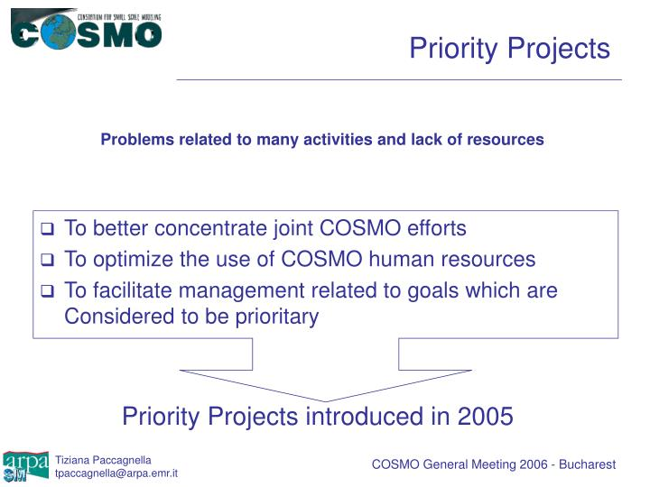 Priority Projects