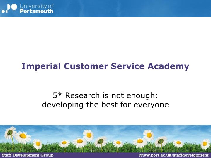 Imperial Customer Service Academy