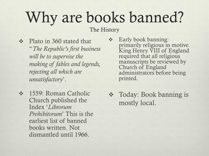 Why are books banned?