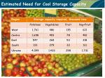 estimated need for cool storage capacity