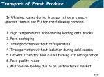 transport of fresh produce