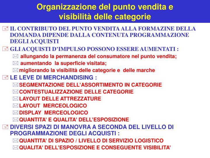 Organizzazione del punto vendita e