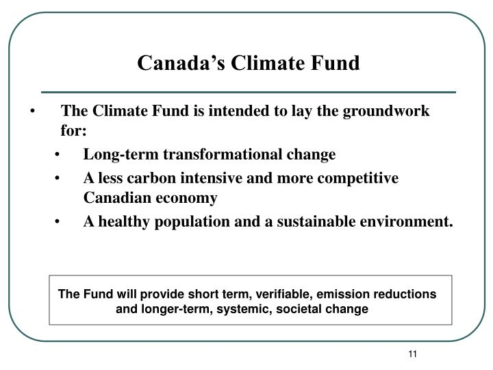 Canada's Climate Fund