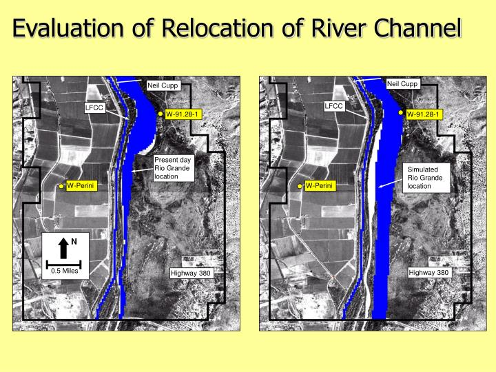 Evaluation of Relocation of River Channel