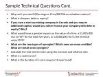 sample technical questions cont