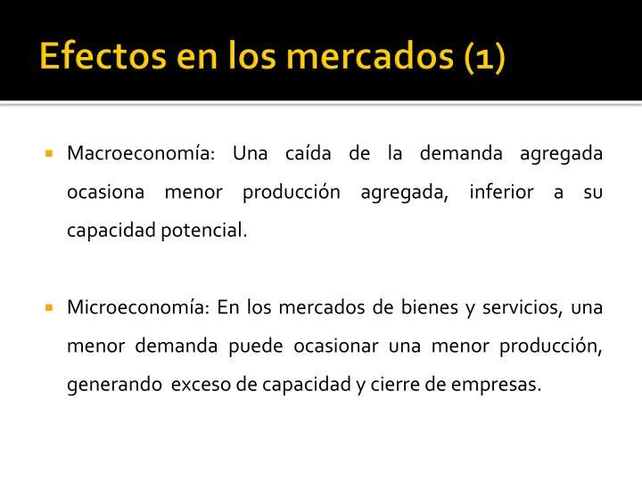 Efectos en los mercados (1)
