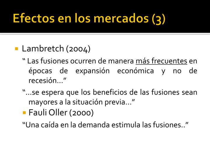 Efectos en los mercados (3)