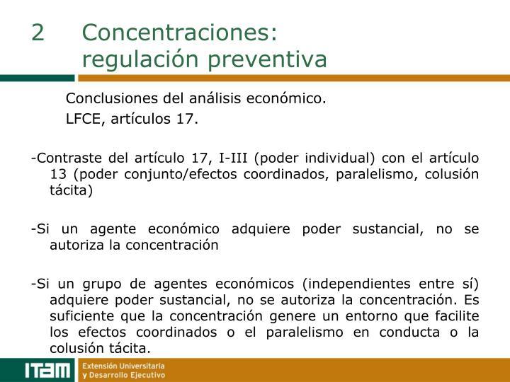 2Concentraciones: