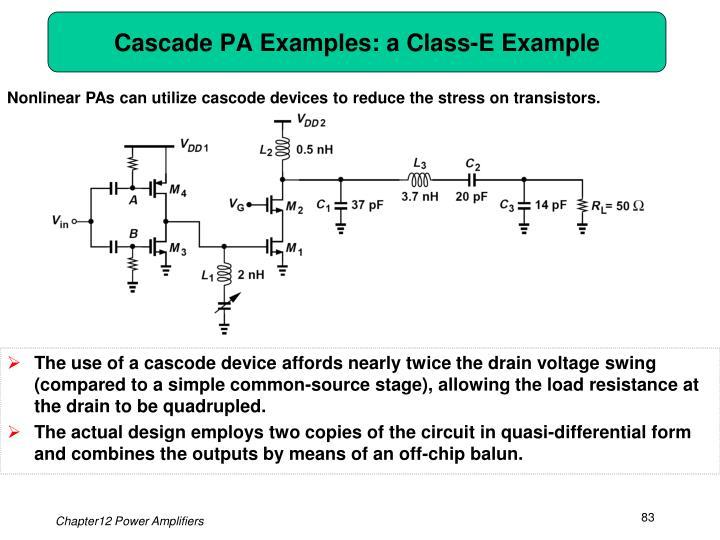 Cascade PA Examples: a Class-E Example