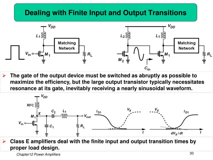 Dealing with Finite Input and Output Transitions