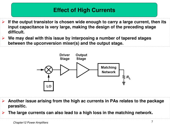 Effect of High Currents
