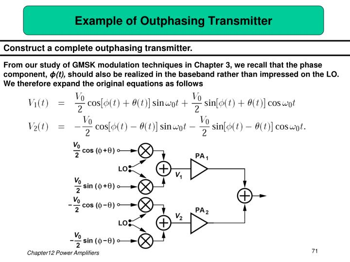 Example of Outphasing Transmitter