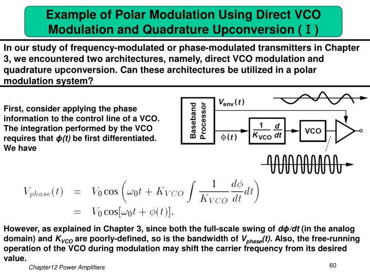 Example of Polar Modulation Using Direct VCO Modulation and Quadrature Upconversion (Ⅰ)