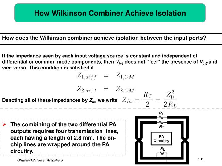 How Wilkinson Combiner Achieve Isolation