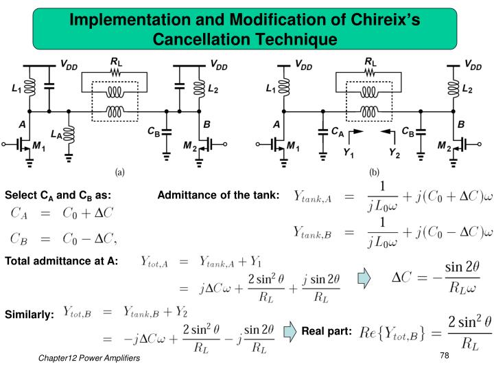 Implementation and Modification of Chireix's Cancellation Technique