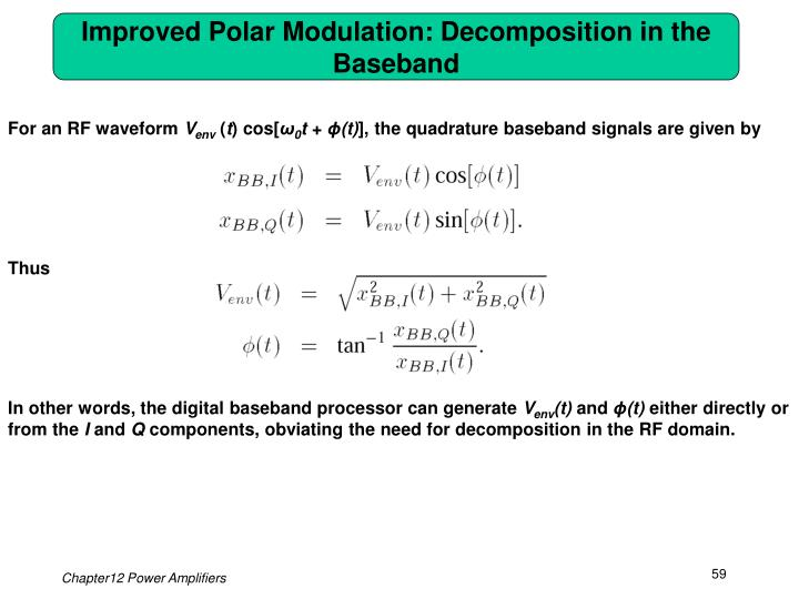 Improved Polar Modulation: Decomposition in the Baseband