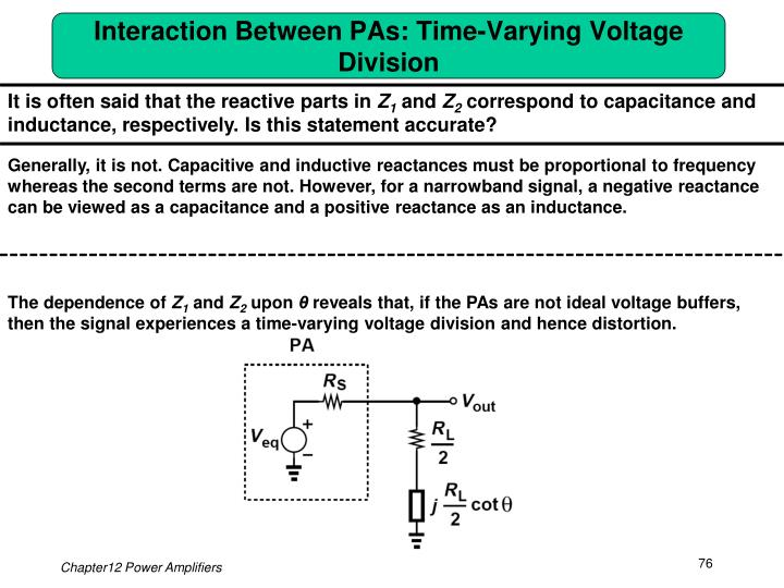 Interaction Between PAs: Time-Varying Voltage Division