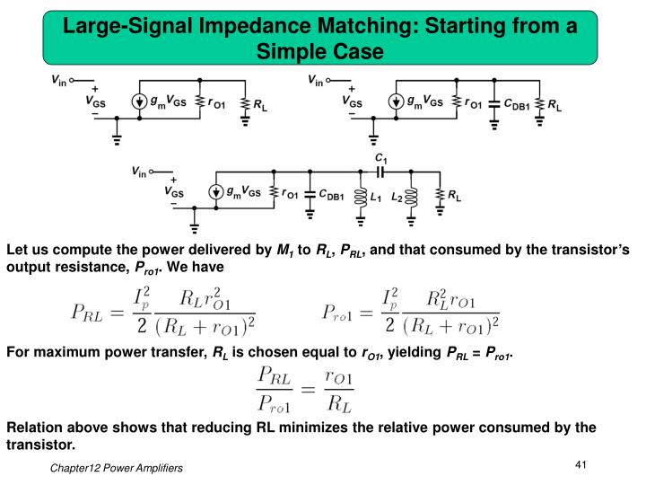 Large-Signal Impedance Matching: Starting from a Simple Case
