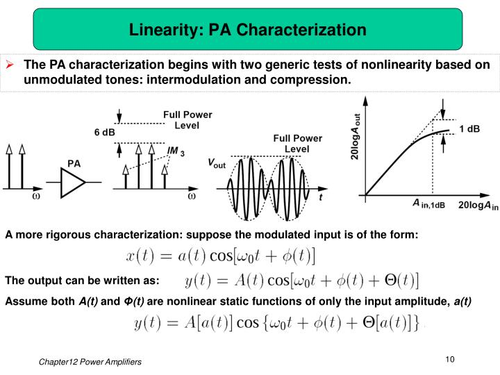 Linearity: PA Characterization