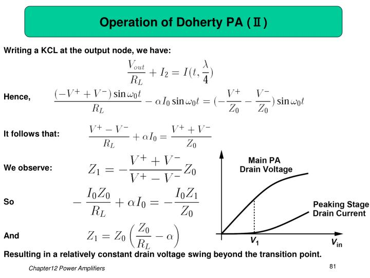 Operation of Doherty PA (Ⅱ)
