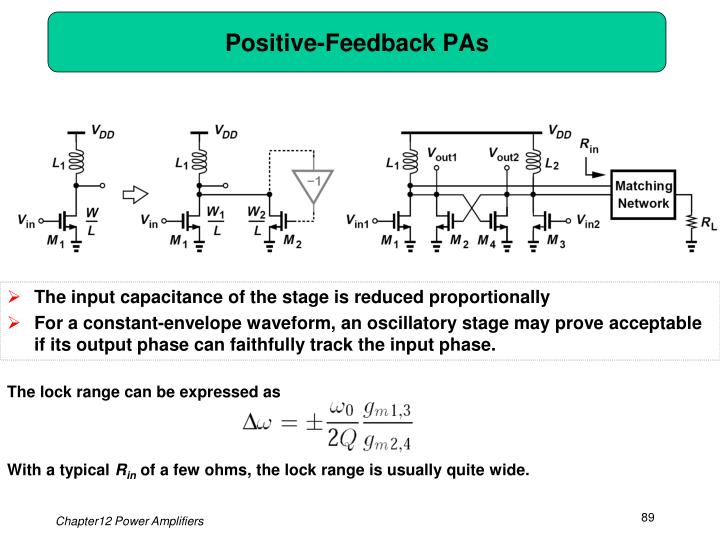 Positive-Feedback PAs
