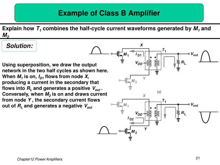 Example of Class B Amplifier