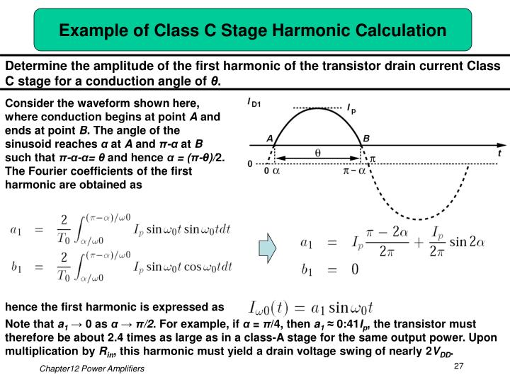 Example of Class C Stage Harmonic Calculation