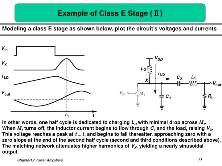 Example of Class E Stage (Ⅱ)