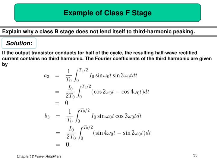 Example of Class F Stage