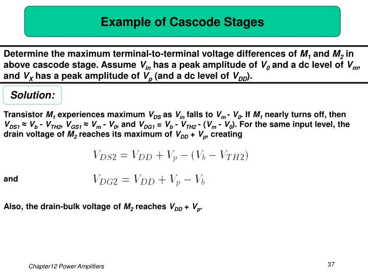 Example of Cascode Stages