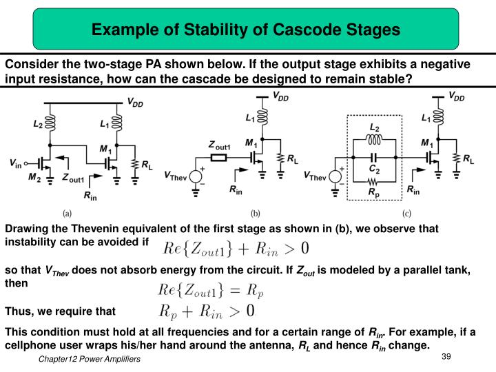 Example of Stability of Cascode Stages