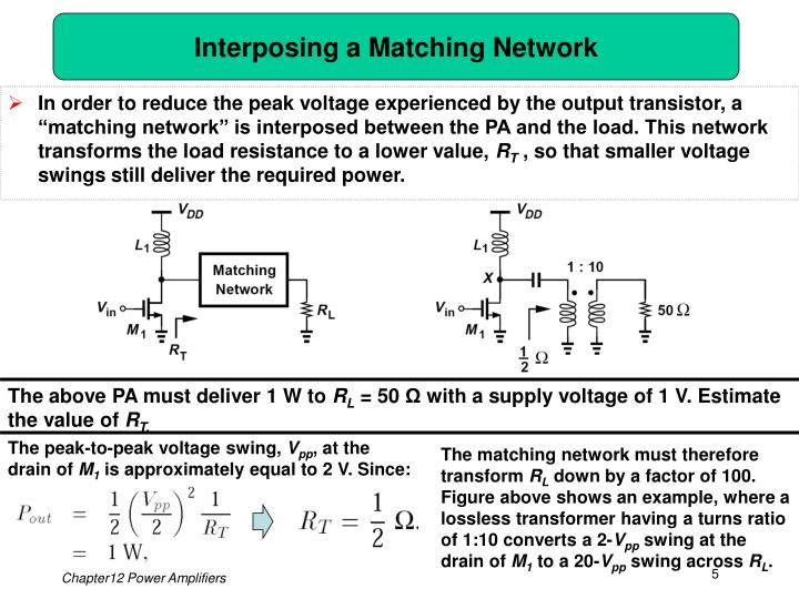 Interposing a Matching Network