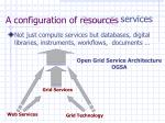 a configuration of resources