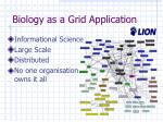 biology as a grid application