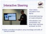 interactive steering