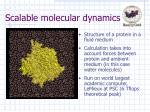 scalable molecular dynamics